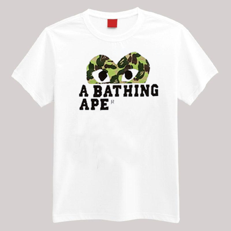 comme des garcons x bape t shirt. Black Bedroom Furniture Sets. Home Design Ideas